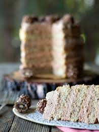 hazelnut sponge with nutella cream birthday cake belly rumbles