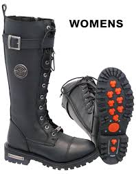 womens wide motorcycle boots women u0027s tall milwaukee lace up combat riding boots w zipper