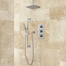 rain shower head system amaury thermostatic shower system with rainfall shower hand