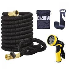garden hose triple layer latex solid brass connectors spray