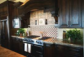 Kitchen Stone Backsplash by Kitchen Stone Backsplash Dark Cabinets Home Design Ideas