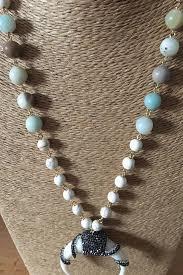 white turquoise necklace images Amazonite mix white turquoise stones hematite crystal rhinestone jpg