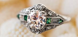 and emerald engagement rings vintage emerald engagement ring collection from t h