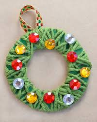 yarn wrapped wreath ornaments what can we do with