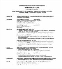 Sample Resume Format For Fresh by Sample Resume For Fresher Mechanical Engineering Student Best
