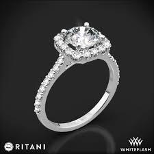 cushion ring ritani set cushion halo diamond band engagement ring 4693