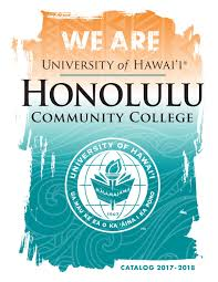 2017 2018 college catalog by honolulu community college issuu