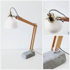 wooden u0026 concrete desk lamp album on imgur