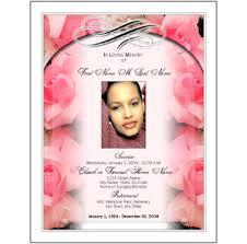 free funeral program templates don u0027t deliver program template