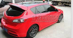 mazda 3 hatchback fit for mazda 3 hatchback mps garage vary carbon fiber rear spoiler