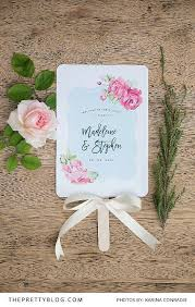how to make your own wedding programs make your own wedding program fan diy wedding program fans