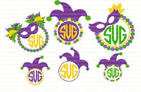 mardi gras picture frame mardi gras monogram frame svg files for cricut svg files for