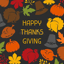 happy thanksgiving day card design with stock vector