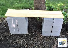 Build Wood Garden Table by Diy Wood And Cinder Block Bench