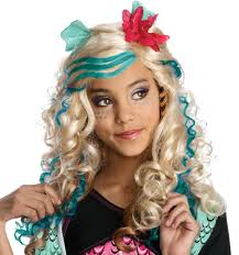 monster high wigs girls halloween fancy dress kids childs costume