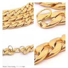 gold colored chain necklace images Honkakuha rakuten global market maruki flat type thick gold jpg
