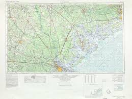 Map Of Sc And Ga Savannah Topographic Maps Sc Ga Usgs Topo Quad 32080a1 At 1