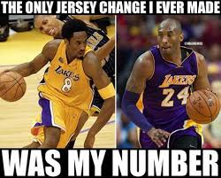 rt nbamemes kobe bryant s only jersey change loyalty http