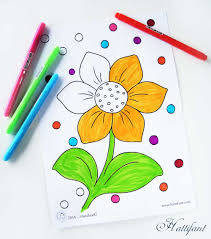 kids spring coloring pages hattifant