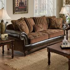 leather sofa with nailheads leather sofa with cloth cushions bing images couch pinterest