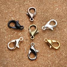 silver necklace clasps images 50pcs pack necklace clasps alloy bronze gunblack gold rose gold jpg