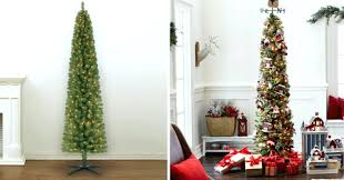 lit 7 foot pencil artificial tree only pre trees clearance