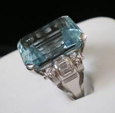 18 carat diamond ring c1950 s platinum 18 carat aquamarine 1 25 carat diamond ring from