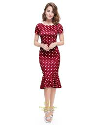 casual summer dresses polka dot mermaid sleeve sheath casual summer dress for