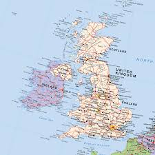 European Union Map by European Union Post Brexit Political Uk Out Wall Map Large 1