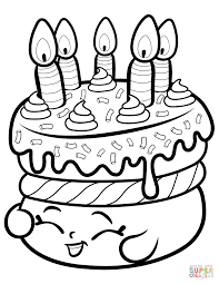 cake wishes shopkin coloring page free printable coloring pages