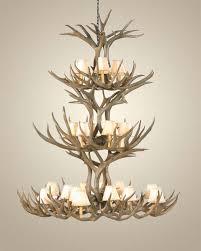 triple tier mule deer antler chandelier antler chandeliers free