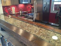 bar counter top with wine cork inlay brewpub pinterest bar
