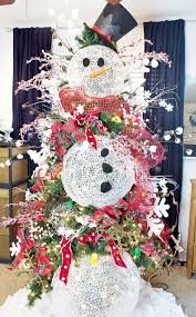 snowman christmas tree how to decorate a christmas tree