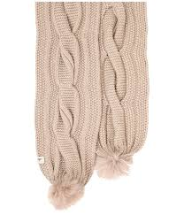ugg australia sale europe europe ugg australia nyla cable scarf with lurex and fur pom