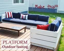 Build Outdoor End Table by Ana White Platform Outdoor Sectional With End Table Part 2