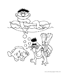 sesame street color coloring pages kids cartoon