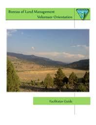 d agement bureau bureau of land management facilitator guide 3