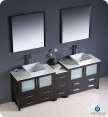 bathroom vanity with side cabinet fresca torino 84 espresso modern double sink bathroom vanity w