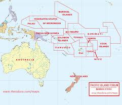 Micronesia Map Pacific Island Forum Member Countries
