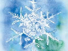 snowflake watercolor painting cards set of 10