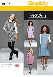simplicity 8026 girls u0027 and girls u0027 plus project runway dress or jumper