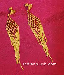 bengali gold earrings 22k gold jhumkas this bengali gold chandelier earing is made