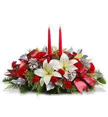 Christmas Centerpiece Images - lights of christmas floral centerpiece