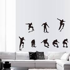 aliexpress com buy new wall stickers skateboard sports cool life aliexpress com buy new wall stickers skateboard sports cool life simple black diy wall stickers wallpaper art decor mural hoom decal from reliable wall