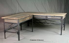 dining table desk modern industrial mid century rustic storage