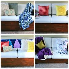 beautiful pillows for sofas how to make beautiful throw pillows with plastic bag filling