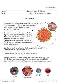 primaryleap co uk the planets jupiter worksheet
