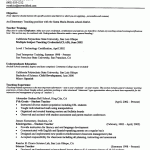 Examples Of Teachers Resumes by Resume Examples Templates Teacher Education Emphasis 2015 Teacher