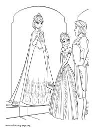 baby elsa anna coloring pages
