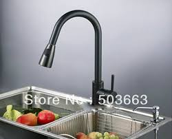 pull out kitchen faucet oil rubbed bronze black kitchen sink mixer
